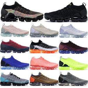venda quente Fly malha 2,0 Correndo Trainers Branco Preto ouro metálico escuro estuque Homens Mulheres estilista esporte sapatos escuros Sneakers moda cinza