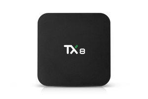 Neue Ankunft android 9.0 TV BOX TX8 RK3318 Quad-Core-4GB / 32GB eingebaute in 2.4G / 5GWIFI bluetooth4.0 smart box cs