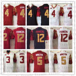 NCAA Florida Eyaleti Seminerleri 4 Dalvin Cook 5 Jameis Winston 3 Derwin James 2 Deion Sanders 12 Deondre Francois FSU Üniversite Futbol Formaları