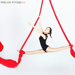 Prior Fitness Top Quality 9Yards 8.2m long Aerial Silks Fabric for Acrobatic Flying Dance Low Stretch 100% Nylon Aerial Silk