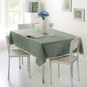Mantel de encaje color sólido decorativo polyester Mantel Mantel Mesa de comedor Partido para la cubierta al por mayor de la decoración del hogar VT0534