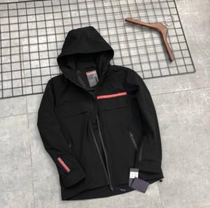 Nuovo cappotto del rivestimento di modo del Mens della molla di autunno con cappuccio a maniche lunghe cappotto degli uomini del cappotto