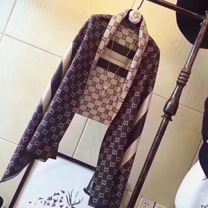 BrandGGC 180cm otoño invierno Nueva doble C de la raya de la cachemira de doble cara de mantener caliente bufanda borla Jacquard bufanda más colores
