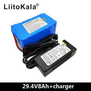 LiitoKala 24V 8AH bicicleta eléctrica de iones de litio 8000mAh 29.4V 15A BMS 250W 24V 350W 18650 paquete de la batería del motor de ruedas
