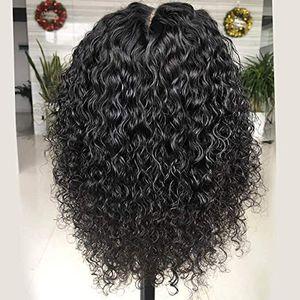 13x6 transparente HD Lace Wig frontal Pré arrancado 360 Lace frontal perucas curto encaracolado 360 Lace Wig para as mulheres negras