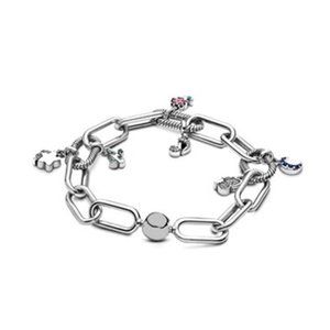 Pand Charms Bilezik Kadınlar Düğün Takı Bilezikler W228 için kutu ile 925 Gümüş Kravat dokumak Bilezik zincir bilezik SET