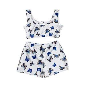 Skinny Woman Pajamas Short Set Soft Letter Yes DADDY Print Short Tank Tops + Ladies Female Sexy Shorts Women Casual 2 PCS Sets