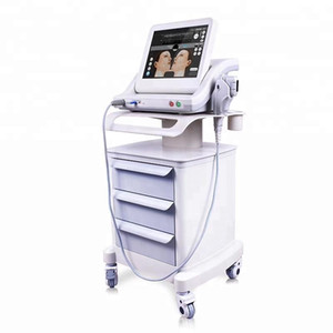 spa portatile Hifu High Intensity Focused Ultrasound Hifu pelle del corpo lifting HIFU rughe rimozione bellezza macchina di serraggio 5 cartucce