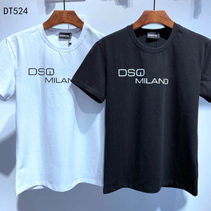 DSQ PHANTOM TURTLE 2020SS New Mens Designer T shirt Paris fashion Tshirts Summer DSQ Pattern T-shirt Male Top Quality 100% Cotton Top 6854
