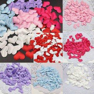 100Pcs Silk Sponge Satin Fabric Cute Heart Petals Wedding Layout Petals DIY Romantic Heart Scrapbook Accessories For Wedding