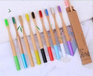 100pcs Natural Bamboo Toothbrush Wood Toothbrush Bamboo Soft Bristles Natural Eco Bamboo Fibre Wooden Handle Toothbrush For Adults X190