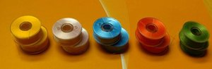 Free shipping colorfull style A L prewound bobbin tubes for embroidery thread machine
