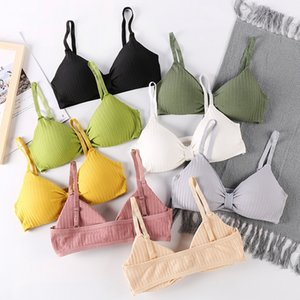New Sling Yoga Sports Bra For Women Thin Breathable Beautiful Back Strap Gym Vest Push Up Running Sport Bras Tube Tops For Girls T200601