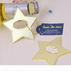 "A ""Under The Star"" Gold Star Beer Bottle Opener Party Souvenir Wedding Favors Gift And Giveaways For Guests ZA4277"
