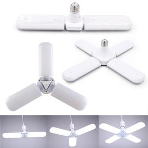 30W 45W 60W E27 LED 전구 SMD2835 슈퍼 밝은 접이식 팬 블레이드 각도 조절 천장 조명 홈 에너지 절약 조명