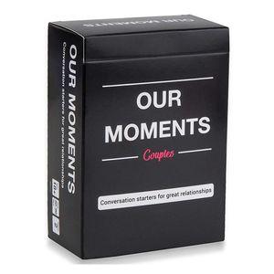Unsere Moments Card Games Paar Relations Verbesserung Spaß Brettspiele für Erwachsene + Conversation Starters 100PCS PRO SATZ