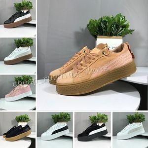 2019 Smash Rihanna Riri Fenty Plataforma SD 5 Creeper Pacote de Veludo Cor Borgonha Preto Cinza Marca Senhoras Clássicos Sapatos Casuais 36-39