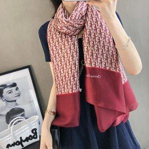 2020 Luxury scarf brand famous designer monogram lady scarf high quality 100% silk long scarf size 180x90cm new