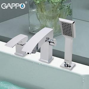 GAPPO 욕조 수도꼭지 믹서 욕실 폭포 욕조 수도꼭지 데크 믹서 목욕 탭 강우 욕실 수도꼭지를 장착