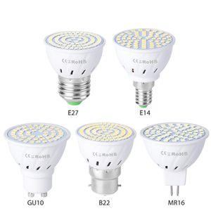 Led Lamp 5W 48LEDs GU10 MR16 E27 E14 ha condotto la luce del punto delle lampadine lampadina del riflettore da incasso Illuminazione
