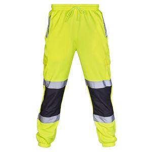 Мужские Sweatpants Светоотражающие Оголенные Брюки Tracksuit ослабнуть Joggers штанах Брюки