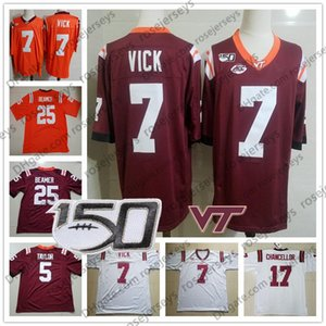 2019 Virginia Tech Hokies # 6 Hezekiah Grimsley 80 Kaleb Smith 82 James Mitchell 83 Tayvion Robinson Uomo Youth Kid Rosso Maglia NCAA 150TH