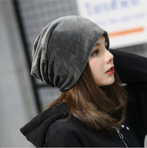 2018 autumn and winter new style Plush hat cap, pure color pile cap, simple leisure ear protectors.