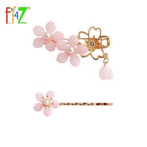 F. J4z novo garfo projeto cereja doce jóia bonita cereja menina hairpin rosa