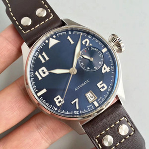 Luxury ZF factory Power Reserve Mens Luxury Pilot 46mm IW500908 IW500916 Swiss CAL.5111 Movement Automatic Mens Watchesblue Dial Watches