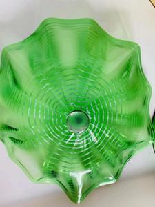 100% ручной работы Сгорел Plate Glass Wall Лампы Творческий Популярные Wall Art Glass Круглый Декоративные стекла Тарелка Wall Art