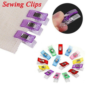50pcs lit Colorful Mixed Sewing Craft Quilt Binding Plastic Magical Wonder Clips Clamps Holder Patchwork Knitting