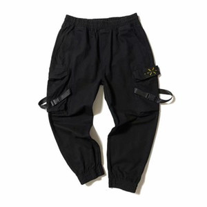 Mens Summer Hot Sell Fashion Harem Cargo Pants Casual Loose Hip Hop Solid Color Male Capris Clothing