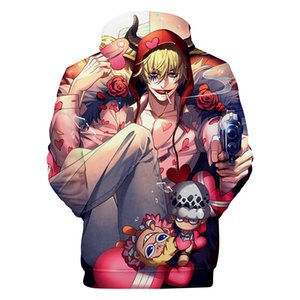 ONE PIECE Cartoon 3D Hoodies Men Women Hooded Casual Loose Luffy Printed Sweatshirts