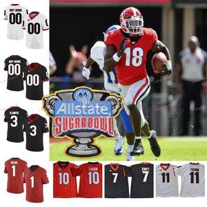 2019 NCAA Georgia Bulldogs # 1 Brenton Cox 18 Deandre Baker Isaac Nauta 2 Richard LeCounte III 3 Zamir Branco Sugar Bowl Jerseys
