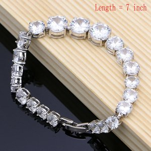 Natural 925 Silver Bridal Jewelry White Zircon Jewelry Sets For Women Wedding Earrings Pendant Necklace Rings Bracelet