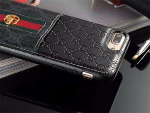 Fashion Designer Cas de téléphone en cuir pour iPhone X XS Max Xr 11 Pro 8 7 plus Samsung S20 Ultra S10 S9 S8 note10 Note9 Avec couvercle titulaire de la carte