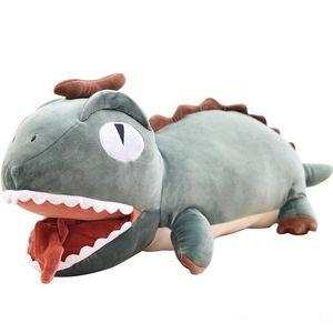 cute big mouth dinosaur plush toy creative cartoon dinosaurs stuffed doll pillow gift deco 28inch 70cm