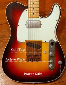 جون كروز ماستر بنيت أندي سمرز تكريم الثقيلة بقايا خمر أمة الله 1961 تيلي TL الغيتار الكهربائي براس جسر، أسلاك النشطة، لفائف سبليت