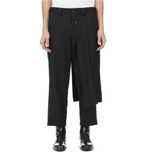pantaloni gonna pantalone uomini doppi di bobina e pantaloni nove punti conici, decostruiti pantaloni molla verticali yohji taglio. S-9XL !!