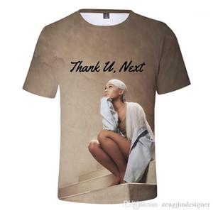 Летние дизайнерские футболки круглый вырез 3D печати Homme Clothing пара женщин Женская повседневная одежда Ariana Grande Mens