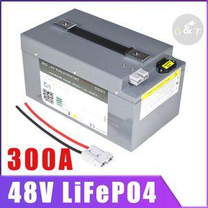 48V 150AH LiFePO4 48V 100AH con BMS Max 300A continuo de descarga del ciclo profundo gratuito de almacenamiento de energía solar Mantenimiento
