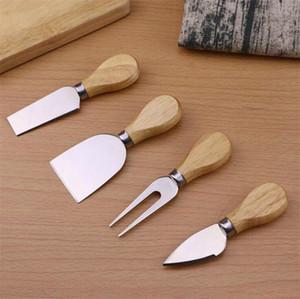 Nützliche Käse Werkzeuge 4PCS / SET Griff Messer-Gabel-Schaufel Kit Graters für Ausschnitt Baking Cheese Board Sets Butter Pizza Slicer Cutter dhl