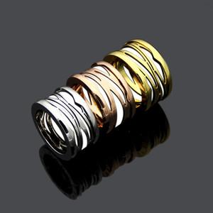 Moda lady titanium steel lettering oco out torres preto / branco cerâmica casamento engajamento de casamento 18k banhado a ouro largamente 1,2cm anéis tamanho 6-9