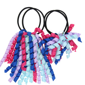 Rouleau coloré Hairband parent-enfant Multicolor Corde Anneau Hairdress poney Tails Bague tête Couvre-chef extensible Corde cheveux pour les femmes bébé enfants filles