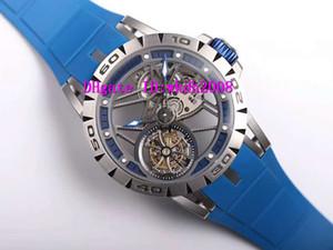 New EXCALIBUR RDDBEX0479 Wristwatch squelette suisse RD505 Tourbillon Volant à remontage manuel Montres saphir en acier inoxydable Montre sport
