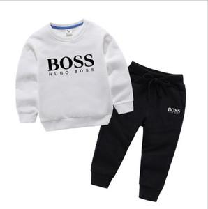 2019 neue klassische luxus designer baby t-shirt jacke hosen zweiteilige 1-4 jahre alt anzug kinder mode kinder 2 stücke baumwolle kleidung se