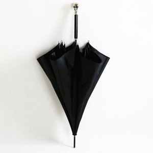 104CM 5 مرات طلاء أسود المضادة للأشعة فوق البنفسجية 50+ مكافحة الرعد الألياف الزجاجية مظلة الجمجمة شبح هيكل عظمي مظلة عصا حيوان CX200629