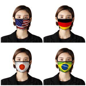 Bandeiras Adulto Anti Poeira Respiradores nacionais enfrentam Boca Máscara Mascherine Dustproof Capa protetora US Japão Canadá 2 7BR UU9