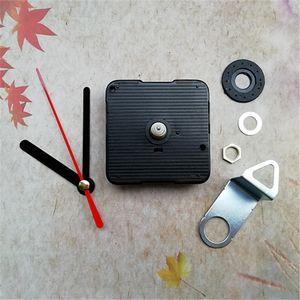 Vente en gros 10 sets silencieux balayage horloge quartz mouvement de remplacement arbre 13MM avec les mains et crochet en métal bricolage