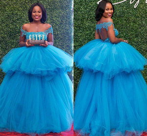 2020 Ball Gown Quinceanera Dresses Off Shoulder Hollow Back Appliques Beads Formal Prom Party Gowns for Sweet 16 vestidos de quinceañera